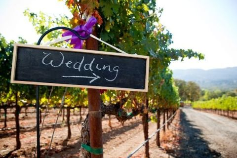 wedding vinyard signs
