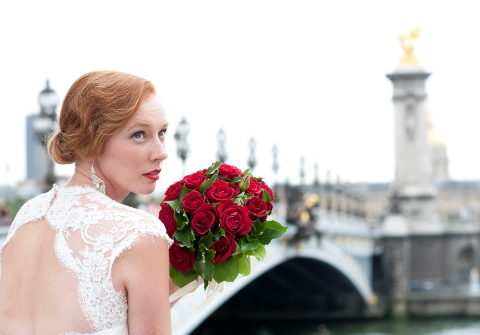 Glamorous wedding photoshoot in Paris