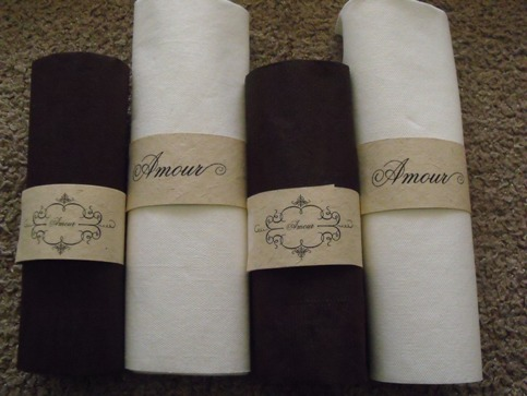 This is a picture of Printable Wedding Napkins with custom printed