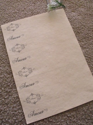 amour napkin rings