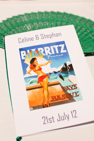 biarritz wedding stationery