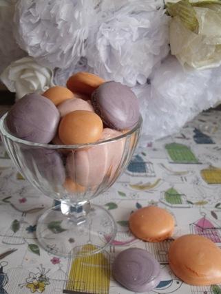 coloured meringues
