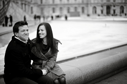 engagement shoot  in paris