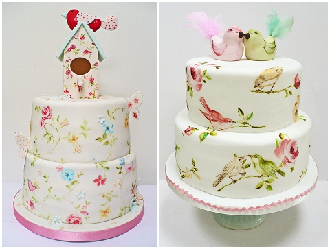 hand painted wedding cakes