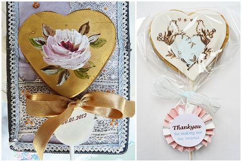 handpainted wedding favour