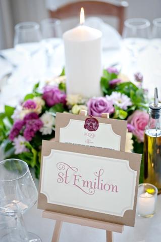 mini easel wedding