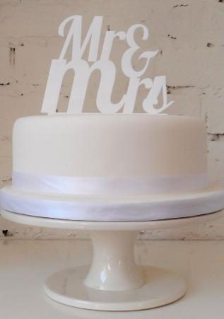 mr and mrs cake topper