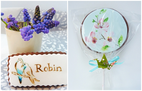 painted edible favours