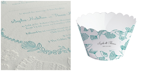 personalised wedding cupcake wrappers