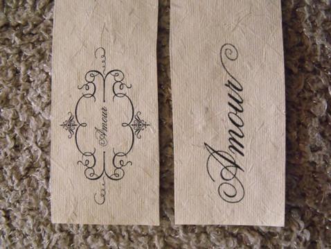 shabby chic napkin rings