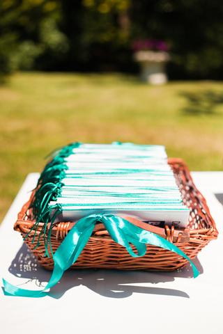 teal wedding invite