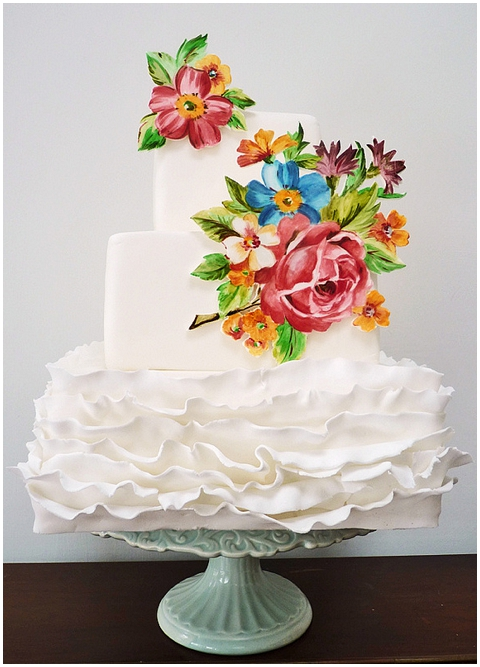 white painted cake
