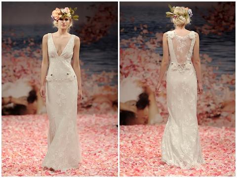 Laurance silk wedding dress