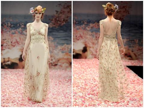 Oleander non white wedding dress