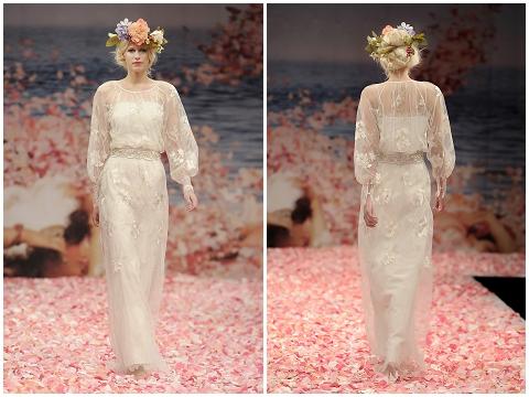 Peace boho wedding dress