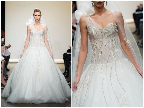 assymetrical wedding dress