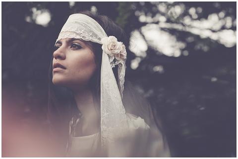 boho bride headband