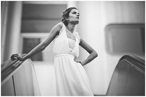 chic french wedding dress