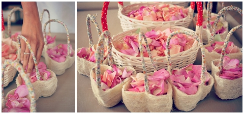 heart rose baskets