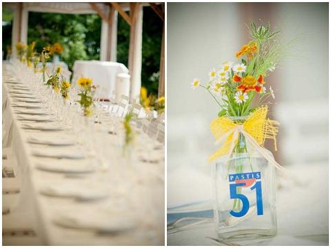 shabby chic wedding table decorations