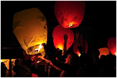 sky lanterns france