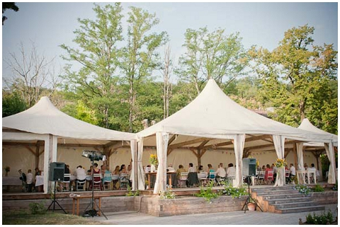 tent wedding france