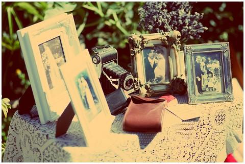 vintage wedding frames