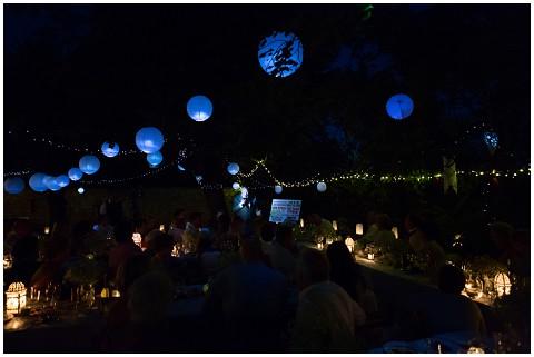 night wedding reception
