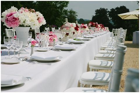 shabby chic outdoor wedding reception