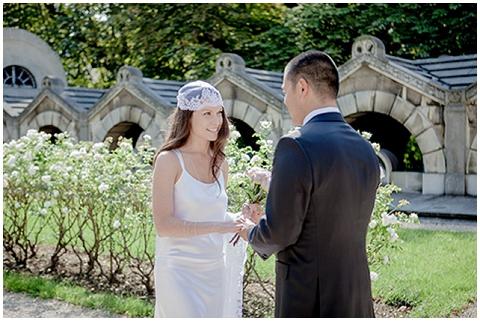skull cap wedding veil
