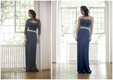 blue evening wear