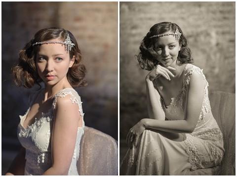 vintage bridal headdress