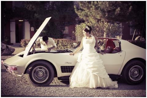 wedding corvette
