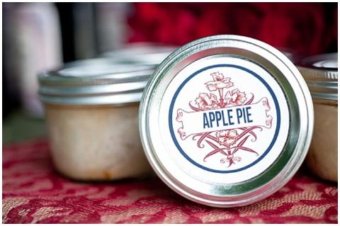 DIY apple pie favour