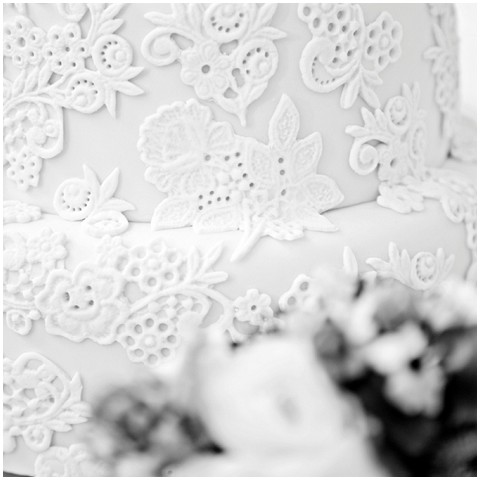 Events with love lace cake detail