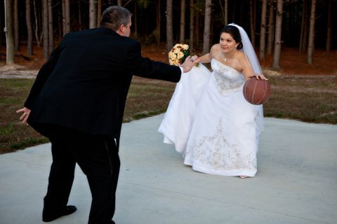 basketball bride