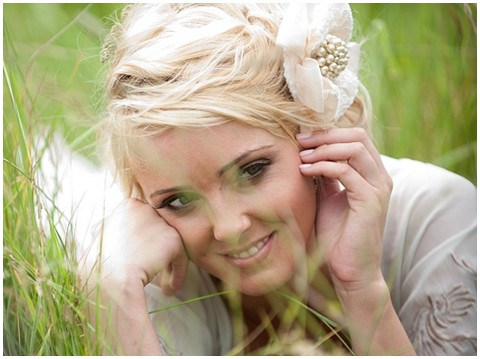 country chic bridal hair