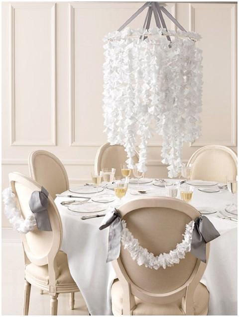 doilie chandelier