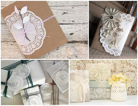 doilies wrapping paper