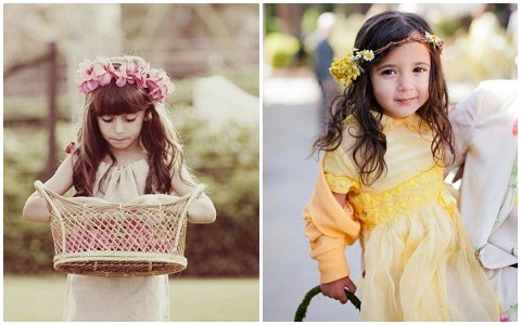 flowergirl floral headdress