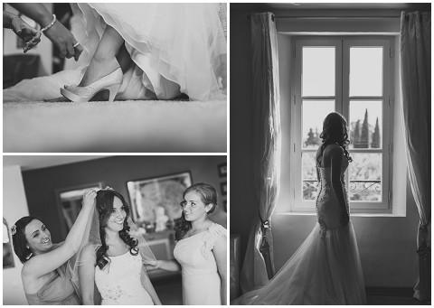 lavender and rose bride france