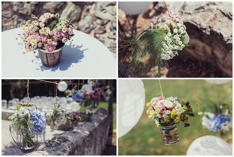lavender and rose wedding flowers provence