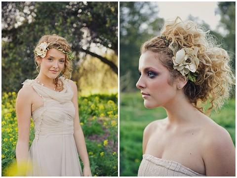 silk floral halo