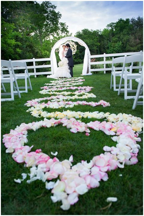 Ace photography flower wedding aisle
