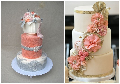 peach white and silver wedding cake white and silver wedding cake wedding cake from 18154