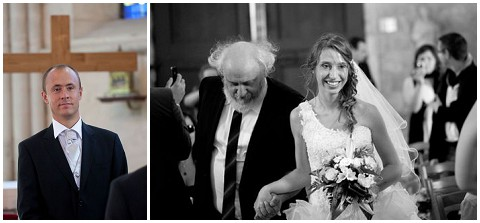 father walking daughter down aisle