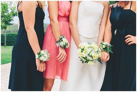 multi coloured bridesmaids