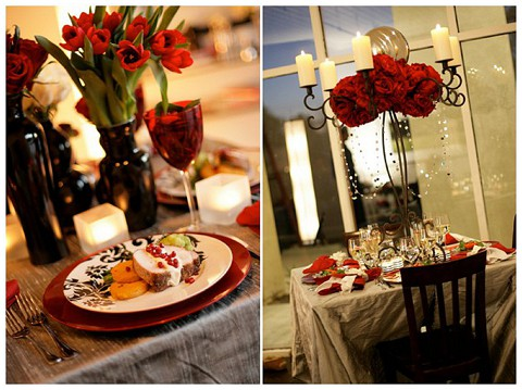 red roses wedding flowers