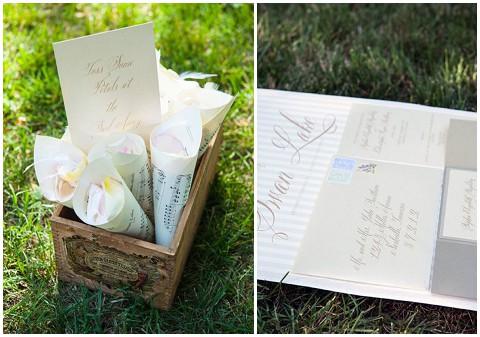 swan lake wedding stationery