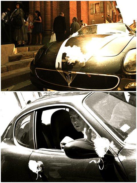Maserat wedding car
